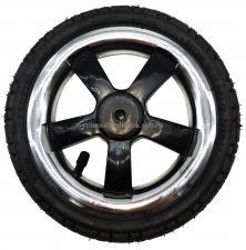 Колесо надувное 10 дюймов переднее без вилки Q-sport chrome